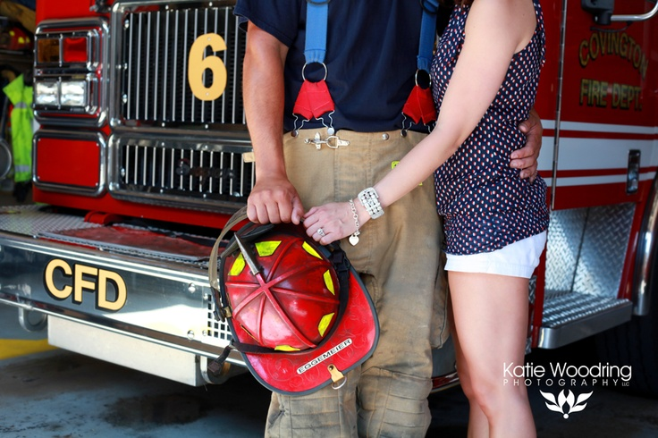 Katie Woodring Photography  firefighter engagement  firefighter wedding  firefighter love  Covington, KY fire department