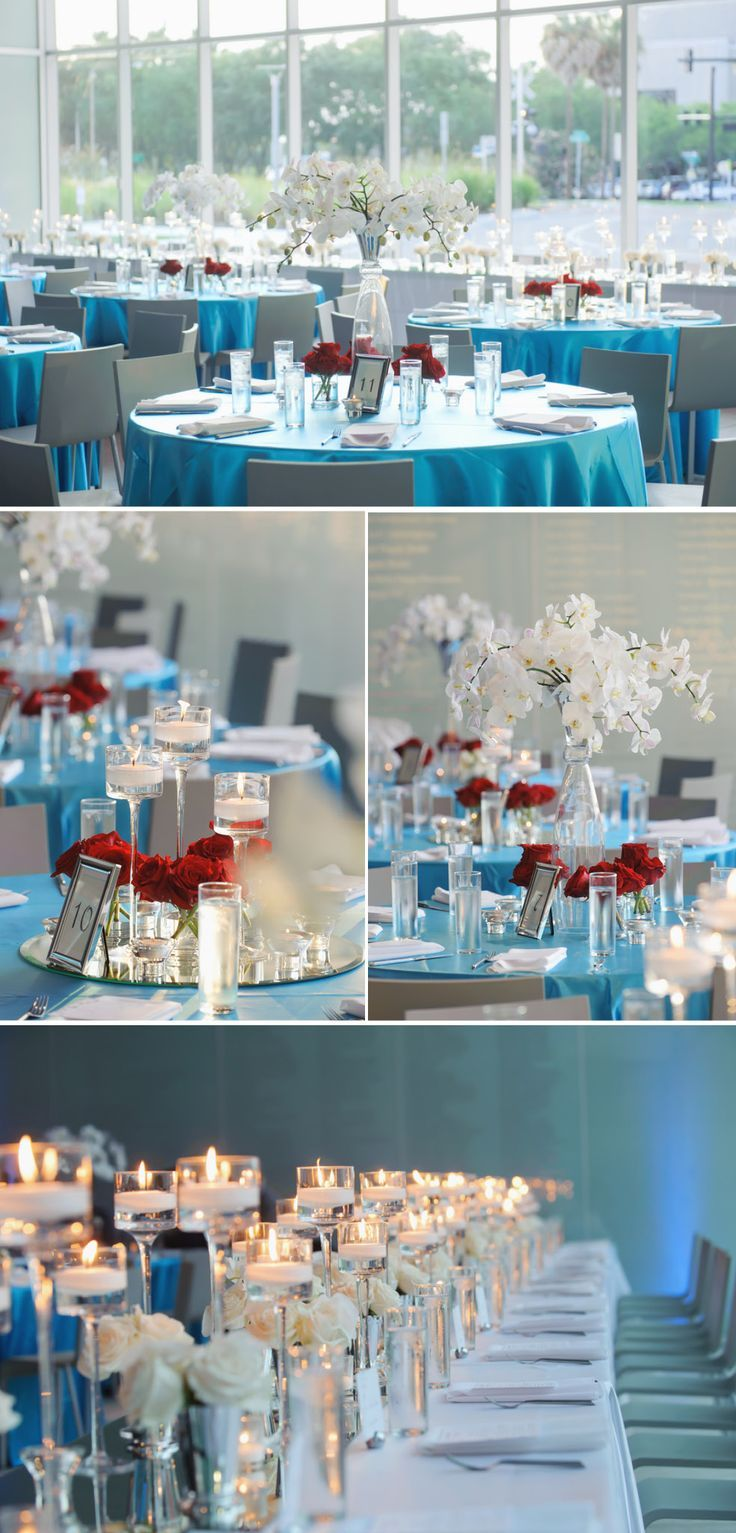 turquoise and red wedding | aqua #blue #wedding and #red accents! | Wedding Decor Inspiration