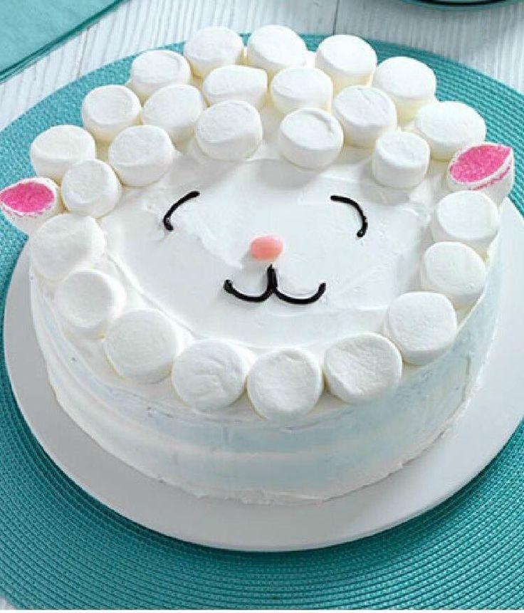 Ideia de bolo para festa infantil - ovelhinha