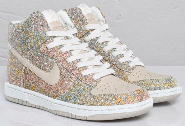 Liberty Print Nike Dunks.  so cute for summer with skirts or skinny jeans!