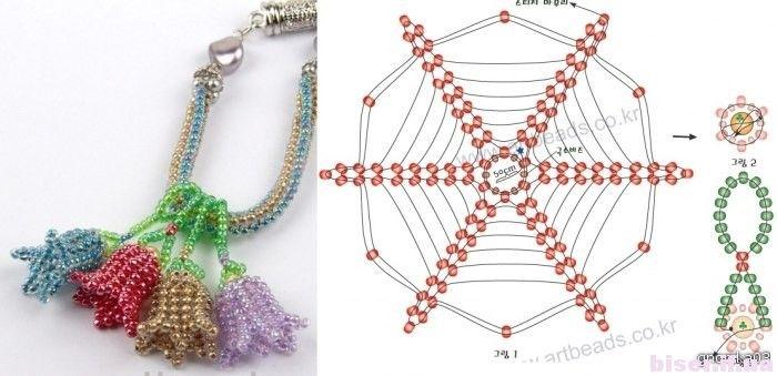 Beads Flower, Бисера Схемы