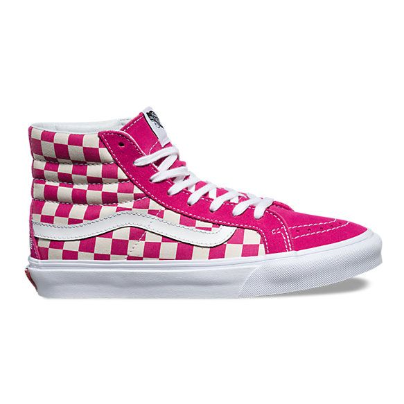 The 2016 US Open Sk8-Hi Slim, a slimmed down version of the legendary Vans lace-up high top, features sturdy canvas uppers, padded collars for support and flexibility, and signature rubber waffle outsoles.