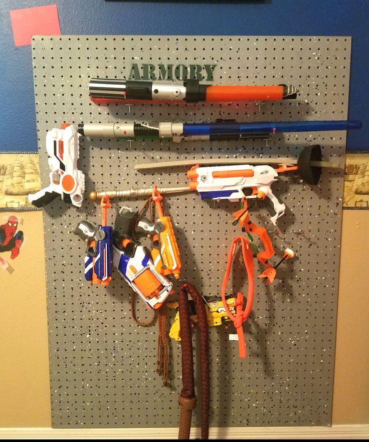 DIY toy weapons storage