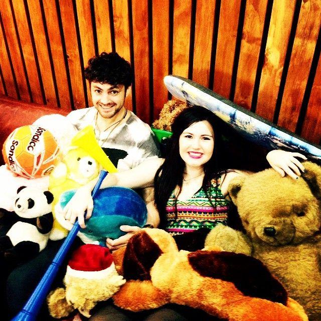 Waiting in reception @verandapanda dive into plethora of toys #ECRToyStory @ecrbreakfast @eastcoastradio