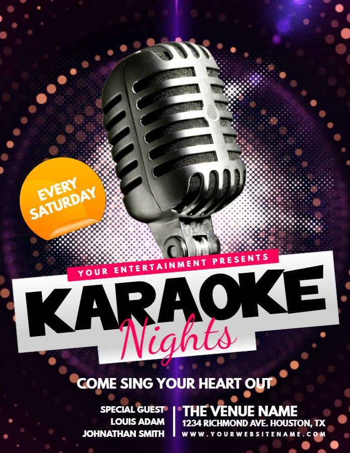 Best Karaoke Poster Templates Images On   Poster