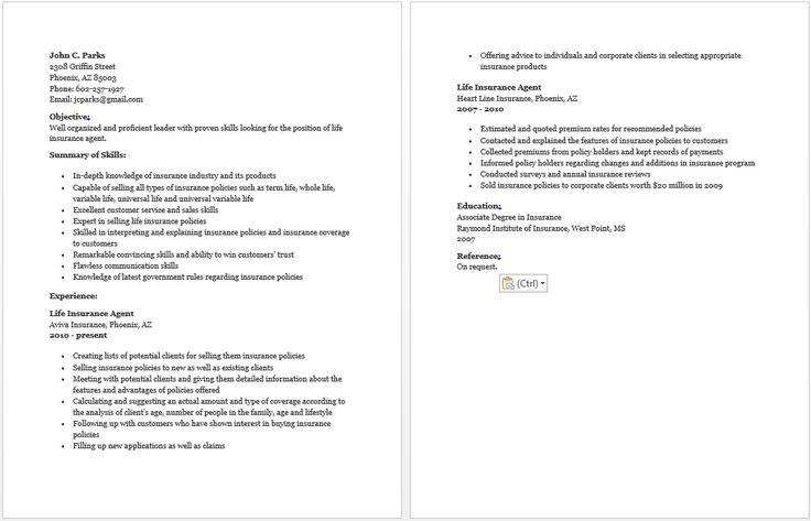 Model Resume  Resume Sample