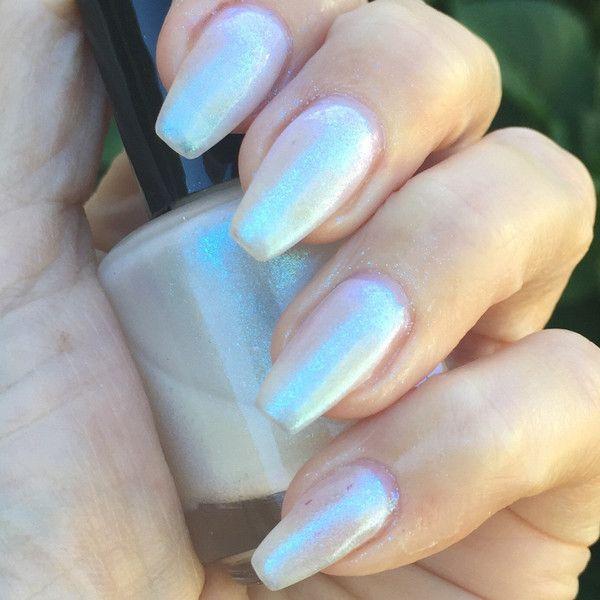 Galactic opal effect nail polish ($8.09) ❤ liked on Polyvore featuring beauty products, nail care, nail polish and shiny nail polish