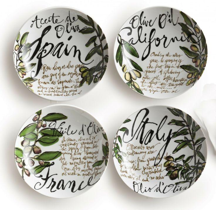 Olive Oil Pasta Bowls - Rosanna Inc