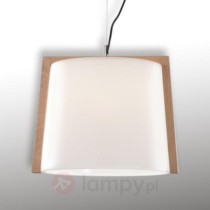 Drewniana lampa wisząca Mona, 1-pkt., 35 cm 9514185