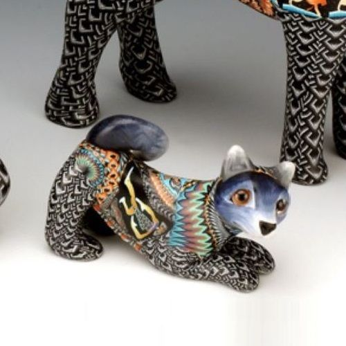 Wolf Figurine | Clay | Sculpture | FimoCreations