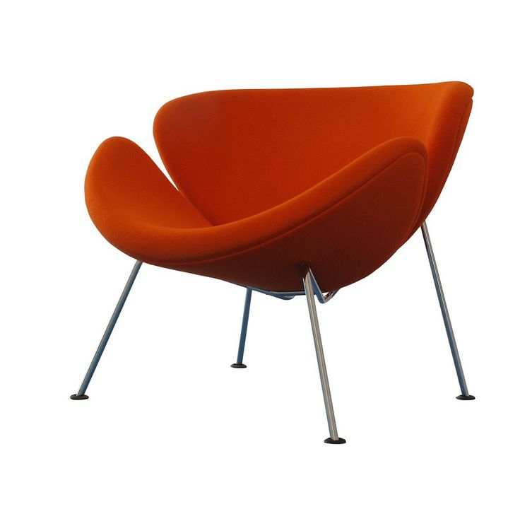 """Orange you glad to have discovered Pierre Paulin's chair designs? The Orange Slice Chair is a prime example of Paulin's blend of modern materials, fundamentally futuristic forms, and colorfully fun aesthetics.   """"A chair should be more than simply functional. It should be friendly, fun and colorful."""" -Pierre Paulin"""