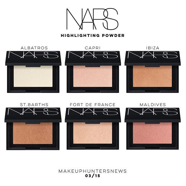 NARS 🖤✨ Chamge of Sheen New, upcoming @narsissist Highlighting Powders in  6 shades. . . Will be available 🔜 MARCH 15T… | Putting on makeup, Makeup,  Fort de france