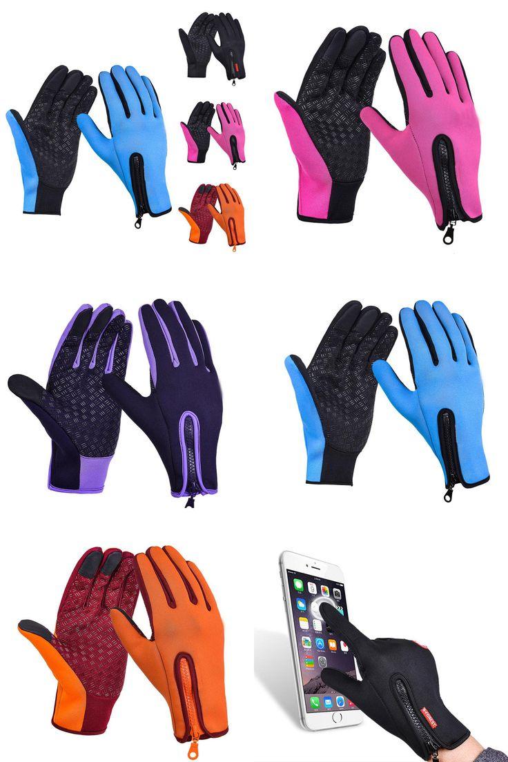 [Visit to Buy] Full Finger Phone Glove Winter Ski Gloves Fleece Thermal Warm Bike Sport Gloves Motorcycle Bicycle Equipment Ski Cycling Gloves  #Advertisement