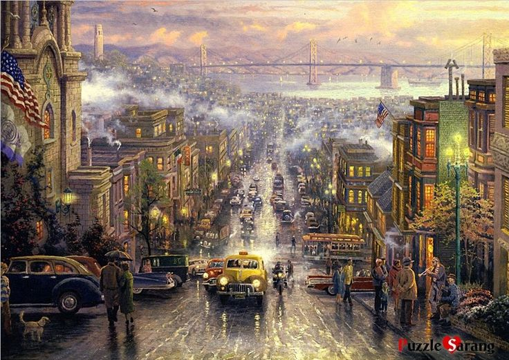 "Jigsaw Puzzles 1000 Pieces ""The Heart of San Francisco"" / Thomas Kinkade #Puzzlelife"