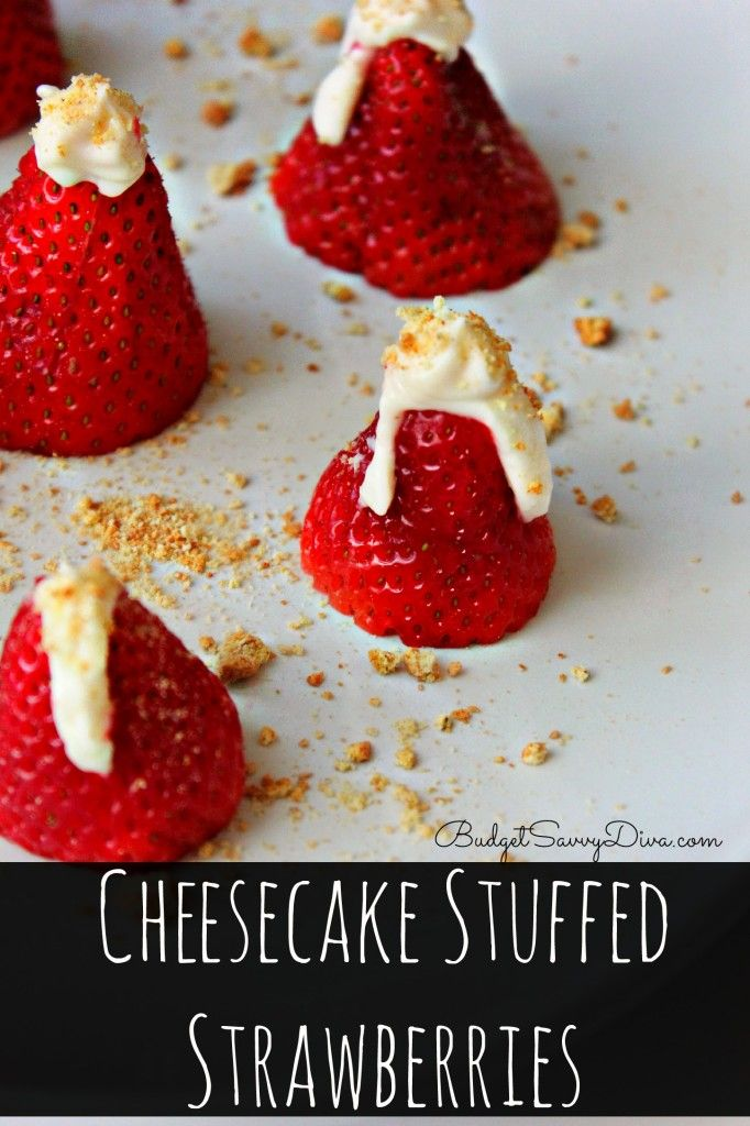 Made this whole dessert in under 10 minutes! Simple and Delicious. Cheesecake Stuffed Strawberries Recipe