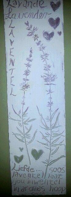Laventel. Lavender. Shabby chic art by Caren