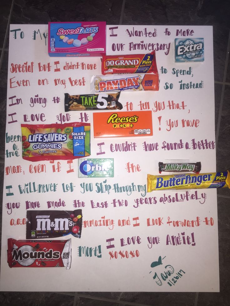 cute valentines anniversary ideas with candy bars and