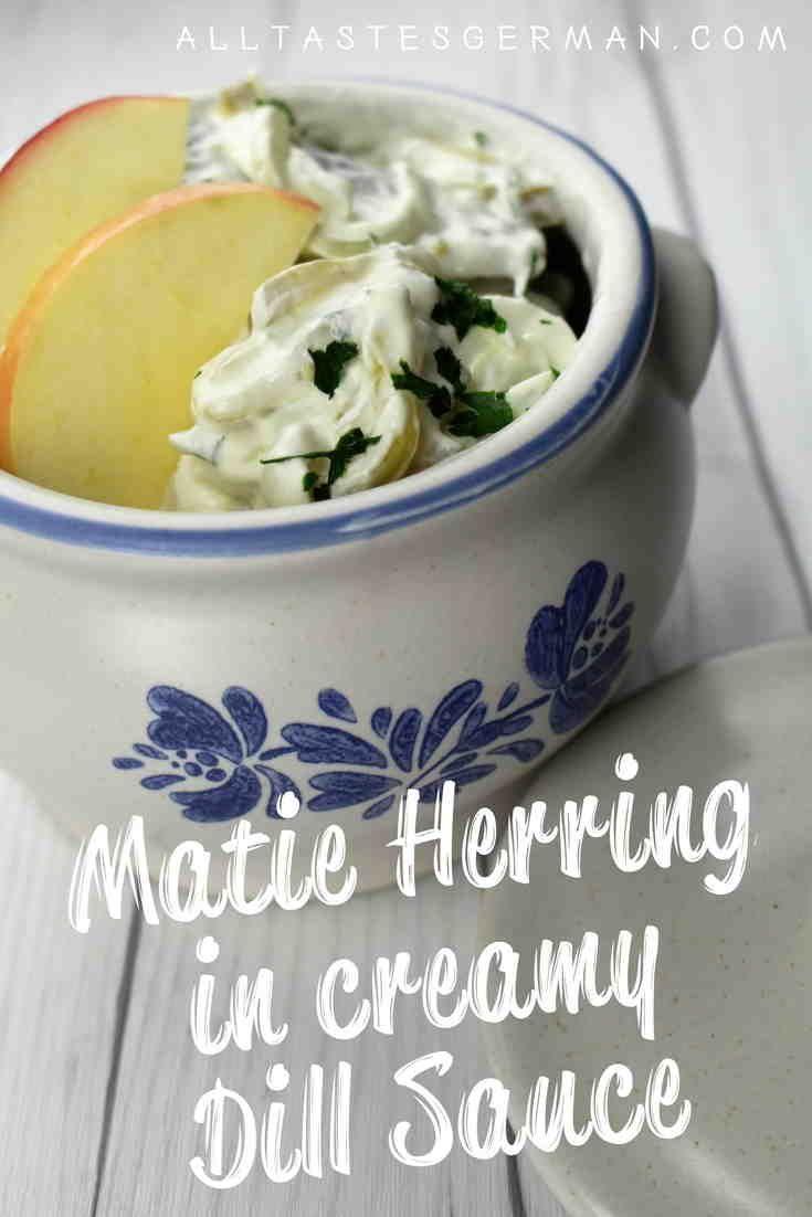 Matjes Herring In Dill Cream Sauce Recipe In 2020 Herring Recipes Dill Cream Sauce Creamy Dill Sauce
