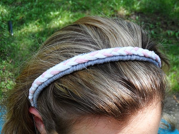 Braided Recycled T-shirt Headband at CraftsbyAmanda.com @amandaformaro