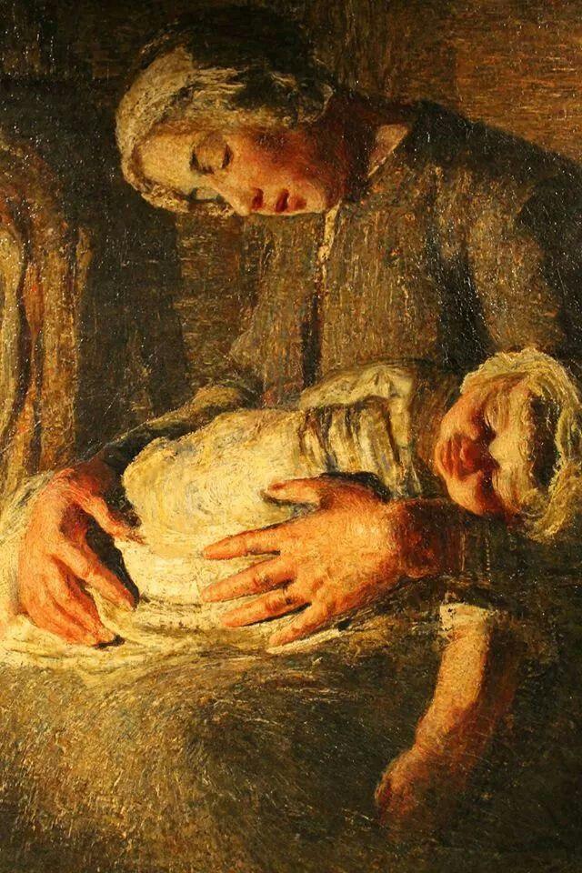 Segantini dettaglio le due madri