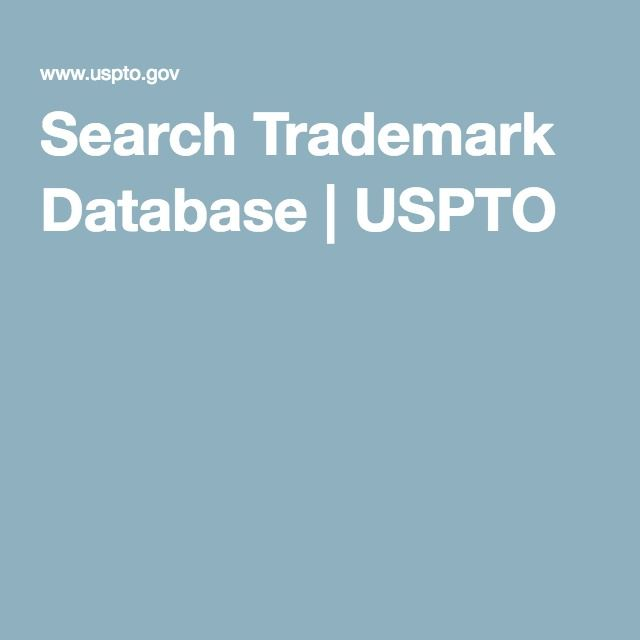 Search Trademark Database | USPTO