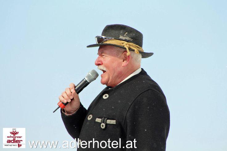 Moderator Ingo Rotter bei Schlager im Schnee in Nauders http://www.adlerhotel.at/