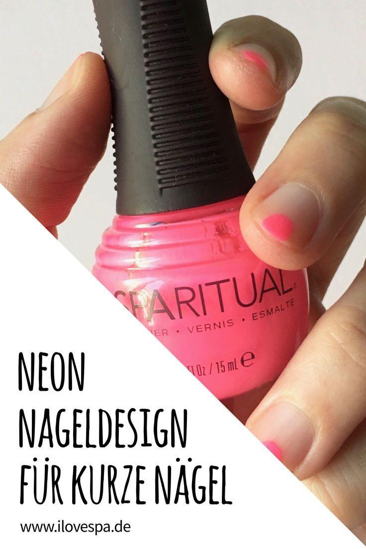 Minimal Manicure Neon Nageldesign für kurze Nägel – ein einfaches Nageldesign …