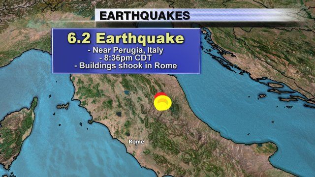 6.2-magnitude earthquake hits southeast of Norcia, Italy | FOX6Now.com