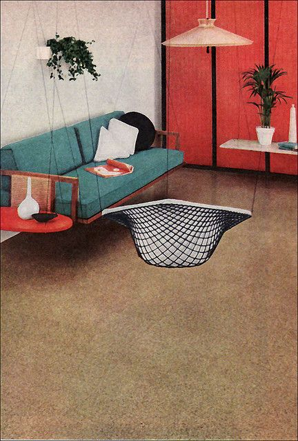 Agatine Was A Flooring Product Produced By B This Advertisement Ran In 1956 Better Homes Gardens Magazine I Like The Idea Of Not Dealing With Chair
