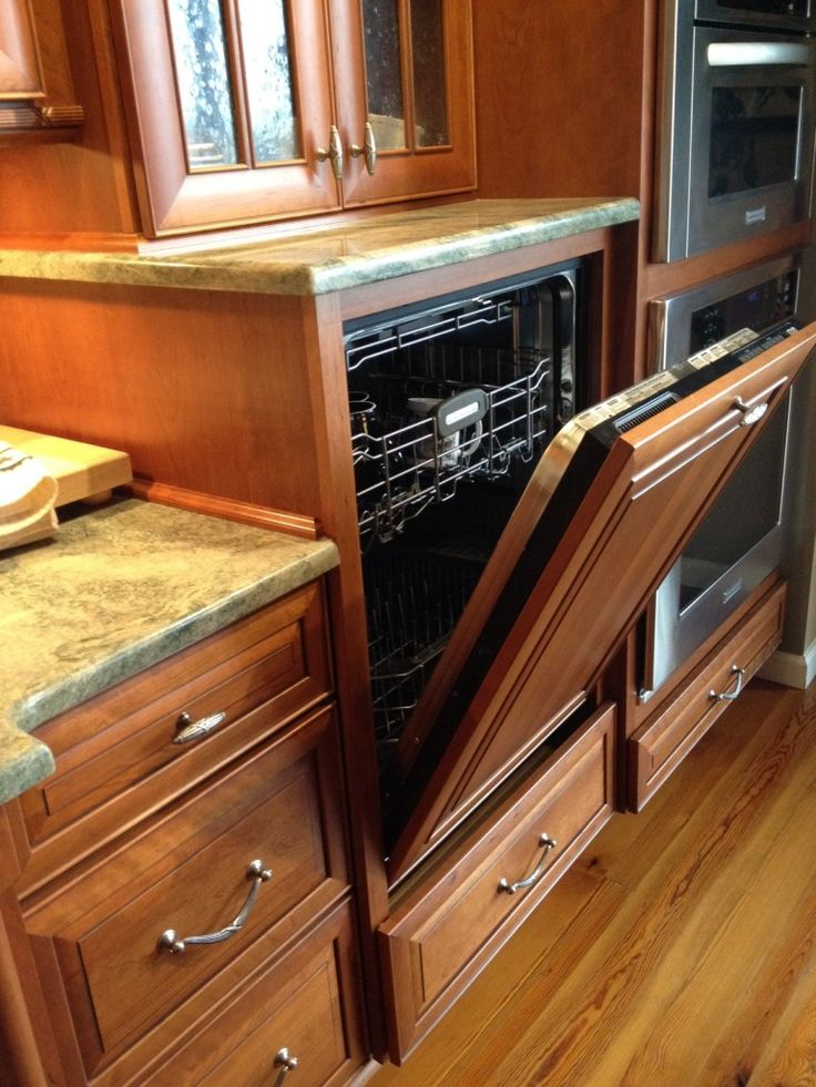 Raised Dishwasher for easier loading & unloading:  aging in place.