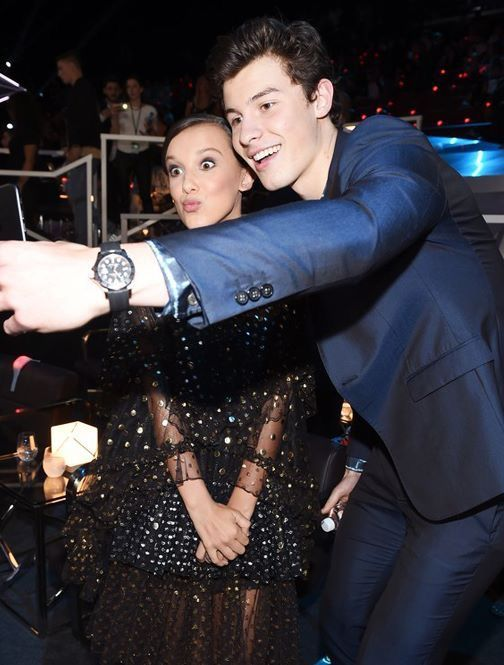 Millie Bobby Brown meets Shawn Mendes