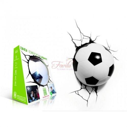 Pallone Calcio 3D FX Deco Light Lampada da muro