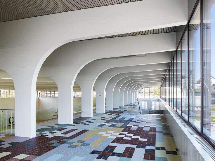 FIRM pool Architekten; PROJECT Multipurpose Hall; LOCATION - innovative feuerfeste spanplatten