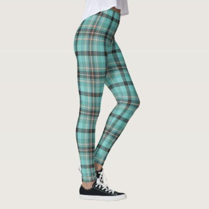 Grey Blue and Dusty Pink Large Plaid Tartan Leggings - girly gift gifts ideas cyo diy special unique