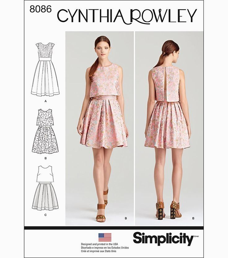 Cynthia Rowley Collection Dress Pattern With Lace Overlay Or Popover In Single Or Two Fabrics Get A 2 Pie Sewing Dresses Dress Sewing Patterns Dress Patterns