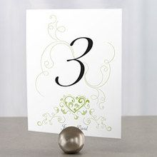 Heart Filigree Table Number - Package Of 12 In Numerical Order