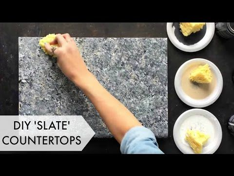 Slate countertop on Pinterest Dark countertops, Kitchen countertop ...