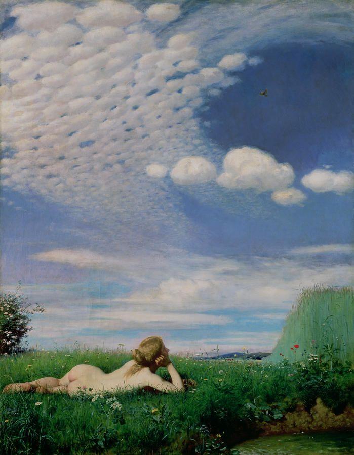Amazing Hungarian paintings Szinyei Merse Pál: Pacsirta