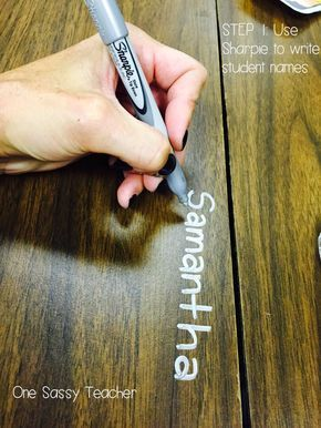 Hello Permanent Marker, Good-bye Name Tags - This REALLY Works! Blog post from One Sassy Teacher