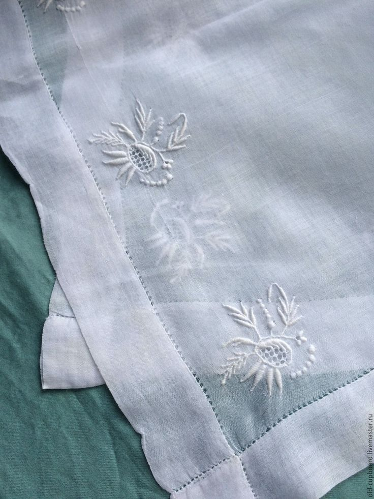 Купить Старинный платочек с эйрширской вышивкой. - белый, эйрширская вышивка, вышитый платочек, антикварный платочек