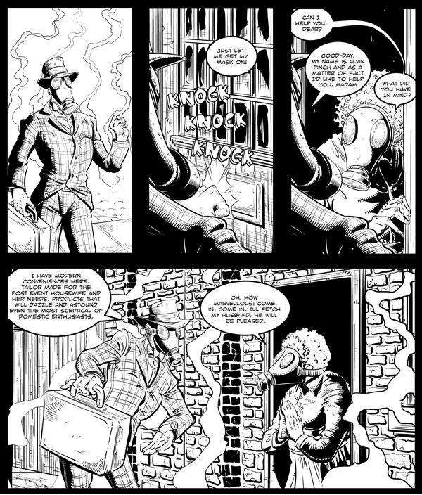 A teaser for Dig - a story from The Fitzroy Comic!