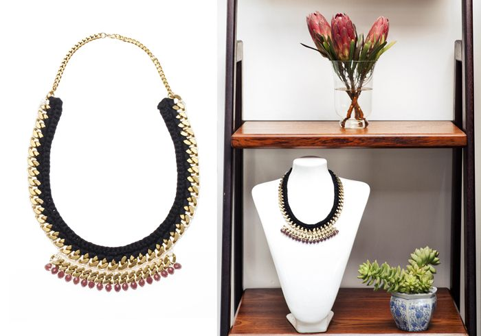 Orchid necklace from 'The Fall' collection