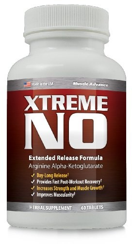 XTremeNO Natural Muscle Enhancer – Build Muscle Pill – Nitric Oxide Muscle Builder Supplement ~ 1 Bottle