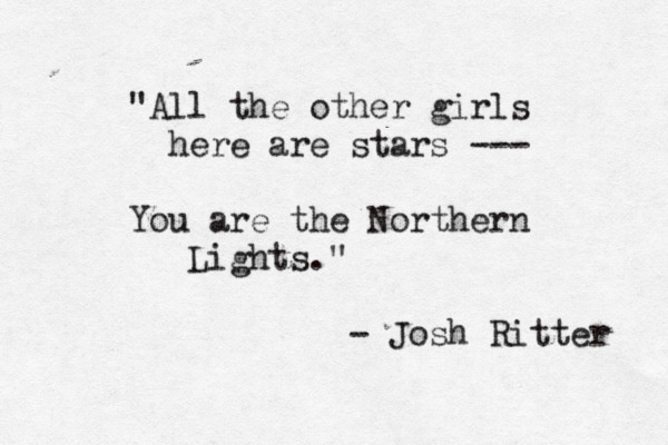 This would be the highest of compliments. Oh Josh Ritter