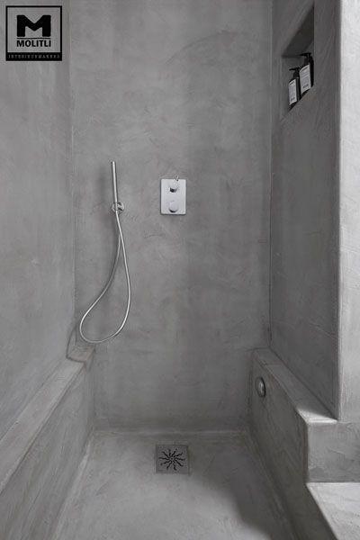 betonlook badkamer ღ