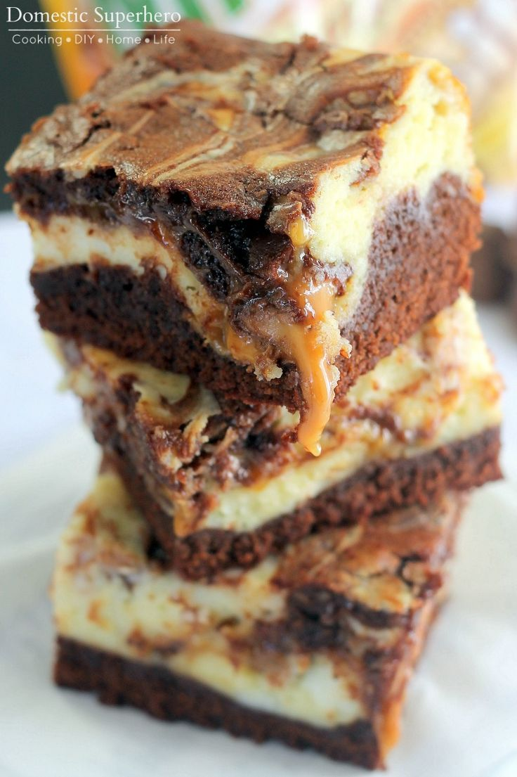 Milky Way Simply Caramel Cheesecake Brownies - the most delicious dessert EVER!