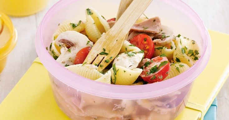 Easy to make and delicious to eat, this pasta salad is a lunch-box treat.