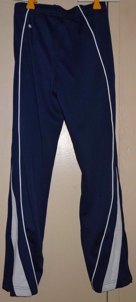 NIKE Blue White Girls Size M 10 12 Dri Fit Therma Athletic Track Pants NWT New  #Nike #AthleticSweatPants #Everyday