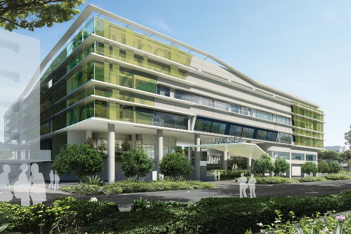 A new office concept allows the construction of three for Office building design concepts