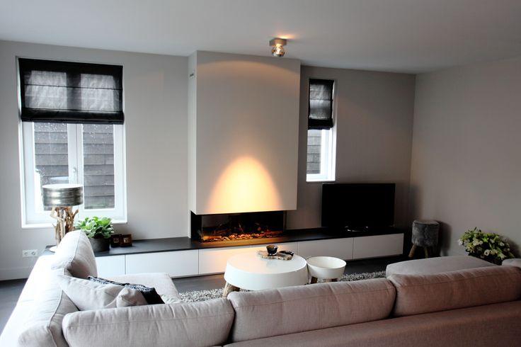 346 best images about maison belle fire place haard en kachel on pinterest concrete - Deco moderne open haard ...